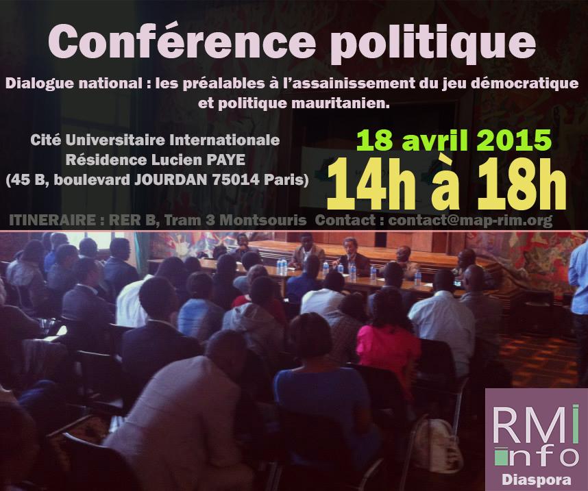 Conférence politique MAPROM ( Mouvement Autonome pour le Progrès)
