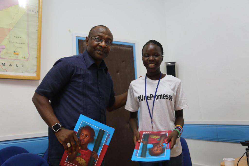Souleymane Diabaté, représentant de l'UNICEF en Mauritanie & Khoudia